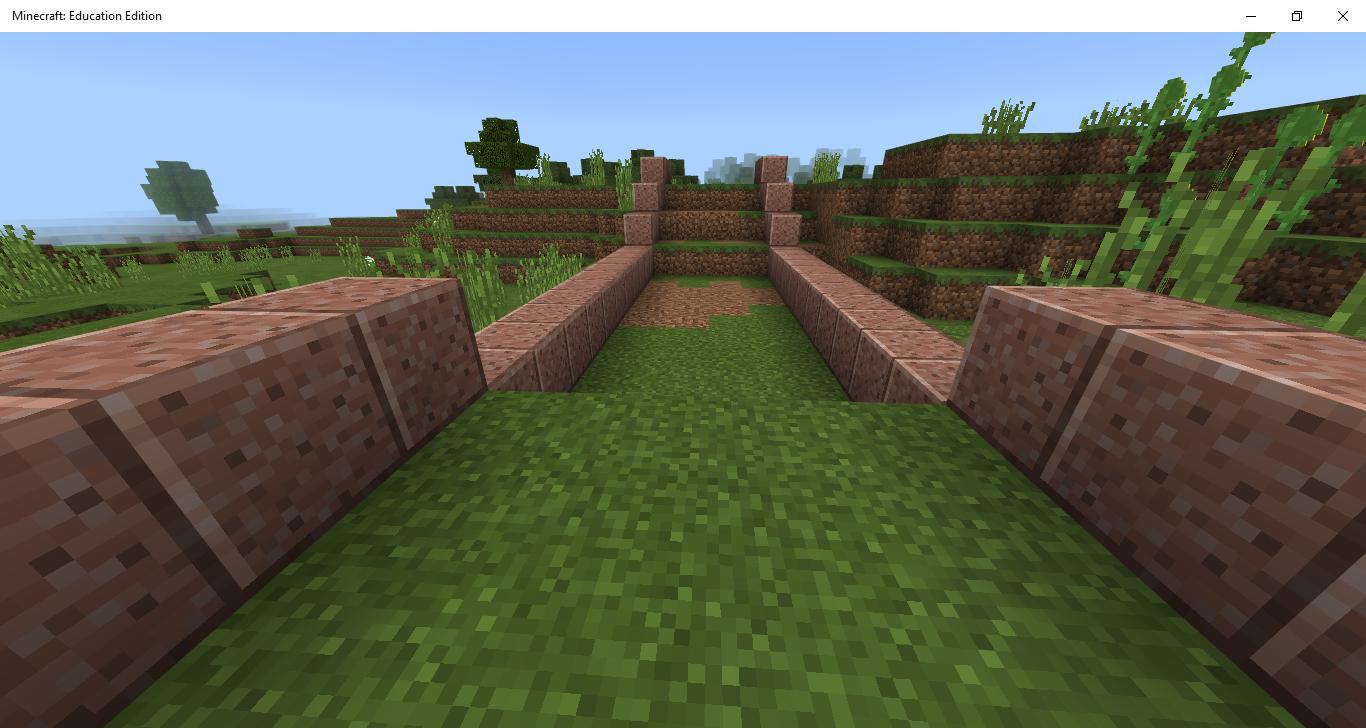 Minecraft dirt road